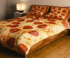 Explore pepperoni, bed sets, and more! Bed Sets, Duvet Sets, My New Room, My Room, Pizza Blanket, Nighty Night, Cool Beds, Pepperoni, Bed Spreads