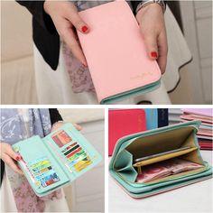 Leather Bifold Wallet Clutch Card Holder Women Lady Purse Lady Long Handbag HOT #Unbranded #Bifold