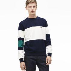 Sweatshirt decote redondo em moletão color block