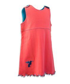 Kleid Kolibri aus Pima Baby Dress, Athletic Tank Tops, Coral, Shirts, Trending Outfits, Fairtrade, Cotton, Shopping, Hummingbird