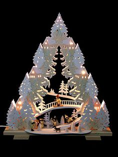 Best 12 Light Triangle – 'Sledding on Goat Mountain' by Tietze Erzgebirgsdesign Christmas Wood, Outdoor Christmas, Christmas Pictures, Christmas Lights, Christmas Holidays, Christmas Crafts, Merry Christmas, Christmas Ornaments, Christmas Minis