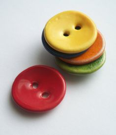 Multi Colour Ceramic Buttons by buttonalia on Etsy, $12.50