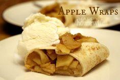 Apple Wraps with Ice Cream