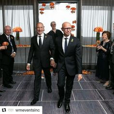 After 22 years together Philip and Robert tied the knot in an intimate ceremony at The Four Seasons. Curated by the @wmeventsinc design and planning team everything was absolutely perfect! #weddingprofs #weddingphotography #photography #samesexwedding #wedding