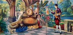 These Thrift Store Paintings Were Old And Forgotten, But After This Artist Gets To Them? David Irvine - Thrift store finds turned into new pop art! Cultura Pop, Thrift Store Art, The Hutt, David, Old Art, Sci Fi Art, Sauce, Dark Art, Altered Art