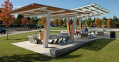 3 form acrylic arbors or trellis Urban Furniture, Street Furniture, Gazebo, Pergola, Boat Shed, Shelter Design, Public Seating, Wall Seating, Glass Roof