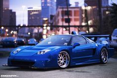 Wide Acura NSX. This car is sick #Stancenation I can't even!