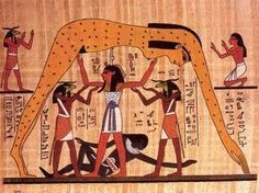 Still dreaming of the Nuit arch? Dear Brave Souls: and this looks something like how we are sheltered by Holy Mother. with love, dr. Ancient Egyptian Religion, Ancient Egypt Art, Egyptian Mythology, Egyptian Art, Ancient Aliens, Ancient Romans, Architecture Antique, Egypt Map, In Ancient Times