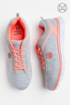 Heather grey MOVE running shoes
