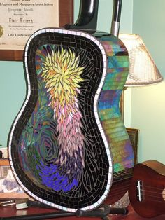Mosaic guitar, seems to be a popular instrument to mosaic