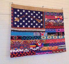 Native AMERICAN FLAG Tapestry wall decor by TheSleepyArmadillo https://www.thesleepyarmadillo.com/