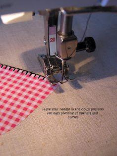 Sewing Machine Blanket Stitch Applique by Machine Tutorial Quilting Tips, Quilting Tutorials, Sewing Tutorials, Sewing Patterns, Tutorial Sewing, Techniques Couture, Sewing Techniques, Machine Applique, Machine Quilting
