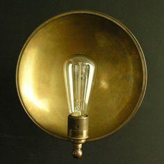 Wall light antique brass