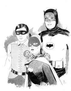 original art by Paradis Nightwing, Batgirl, Catwoman, Yvonne Craig, Batman Artwork, Red Hood, Gotham City, Dark Knight, Superman