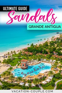 Sandals Grande Antigua: The Ultimate Guide - Ever wonder what it would be like to stay at a Sandals Resort? We cover the spa, restaurants, suites, and more in this Sandals Grande Antigua Review! It has the most beautiful beach of all the Sandals Resorts in the world! #SandalsGrandeAntigua #Antigua #SandalsResorts #vacationcouple #sandalsantigua #SandalsGrandeAntigua via @vacation_couple Barbados, Jamaica, Most Beautiful Beaches, Beautiful Hotels, Amazing Hotels, Haiti, Honduras, Travel Destinations, Travel Tips