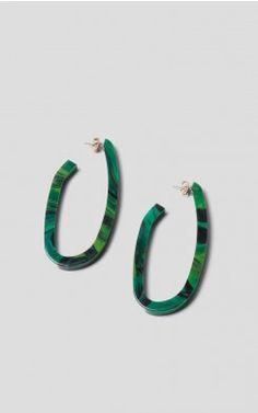 Maya Earrings - Shades of Green #oversized #earrings