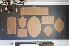 A couple of tricks for hanging the perfect mirror gallery wall plus ideas for a traditional meets modern eclectic dining room. Stairway Gallery Wall, Mirror Gallery Wall, Mirror Collage, Mirror Art, Wall Collage, Gallery Walls, Mirror Walls, Dining Room Wall Decor, Room Decor