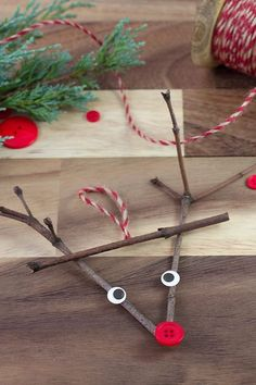 Twig Reindeer Ornaments Just in time for Christmas, learn how to make a DIY wooden popsicle stick sled ornament with craft sticks, glue, and paint. This simple holiday craft for kids is perfect for home or school! Christmas Decorations For Kids, Christmas Crafts For Kids To Make, Preschool Christmas, Christmas Activities, Simple Christmas, Holiday Crafts, Indoor Activities, Summer Activities, Family Activities