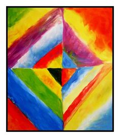 Color Studies by Artist Wassily Kandinsky Counted Cross Stitch or Counted Needlepoint Pattern