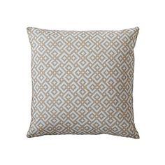 Fog Lattice Pillow Cover | Serena & Lily