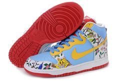 online retailer eb897 ed73a Nike Dunk High Pro SB Baby Blue White Red New Jordans Shoes, Air Jordan  Shoes