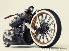 Train Wreck bike of designer Colby Higgins...very cool!