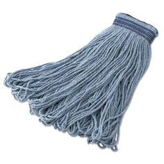 Newell Rubbermaid E23900BL00 Wet Blend Mop Heads, 32 Oz, Blue