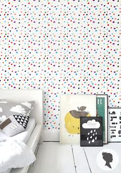 Colorful Polka Dot Paint Stain Self Adhesive Wallpaper D011 by Livettes on Etsy https://www.etsy.com/listing/178708023/colorful-polka-dot-paint-stain-self