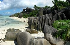 Located in the Seychelles, Anse Source D'Argent is one of La Digue's many sublime beaches.