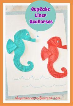 cuuuuute /Cupcake Liner Seahorses