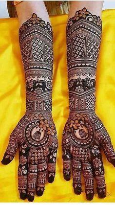 Latest Mehandi Designs Images Collection for Brides – Mehandi Designs 2019 Rajasthani Mehndi Designs, Dulhan Mehndi Designs, Mehandi Designs, Mehndi Designs Finger, Wedding Henna Designs, Henna Hand Designs, Indian Henna Designs, Engagement Mehndi Designs, Latest Bridal Mehndi Designs