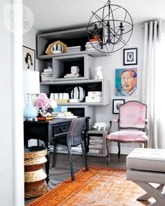 High/Low Quiz: Glam office space {PHOTO: Michael Dube}