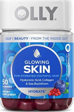 Here's a juicy blend of super nutrients to help replenish and hydrate your skin from within so you can keep that youthful glow.* 50 Gummies Flavor: Plump Berry A blend of Hyaluronic Acid, Collagen and Sea Buckthorn Vitamins For Skin, Vitamins For Women, Food For Glowing Skin, Packaging, Skin Food, Hyaluronic Acid, Second Hand, Collagen, Anti Aging