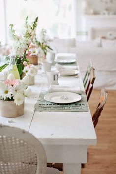 Minty Inspirations | wystrój wnętrz, dodatki i dekoracje do domu, zdjęcia, inspiracje: Aranżacja stołu w klimacie vintage