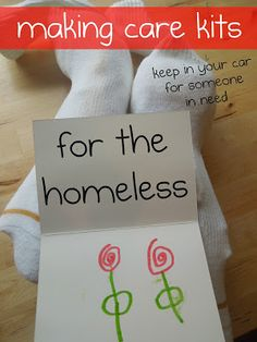 Act of Kindness: Care Kit for the Homeless | Pennies Of Time: Teaching Kids to Serve