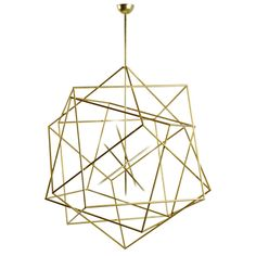 Polyedres by Hubert le Gall France Contemporary Large cubic chandelier New Measurements height: 4 ft. cm) depth: 43 in. cm) width/length: 43 in. cm) Materials/Techniques: Gold leaf patinated steel For formal lounge? Interior Lighting, Home Lighting, Modern Lighting, Lighting Design, Dining Lighting, Lighting Stores, Luxury Lighting, Industrial Lighting, Bedroom Lighting