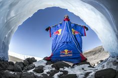Red Bull Wingsuit Base jump from Mt. Kilimanjaro by Valery Rozov. The Russian adventurer summited the highest point in Africa and then jumped from . Gopro Hd, Base Jumping, Kilimanjaro, Skydiving, Extreme Sports, Rock Climbing, Fishing Boats, Red Bull, Adventure Travel