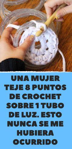 Esto nunca se me hubiera ocurrido Single Crochet Stitch, Basic Crochet Stitches, Crochet Basket Pattern, Crochet Patterns, Diy Crochet, Crochet Hooks, Crochet Sunflower, T Shirt Yarn, Crochet Designs