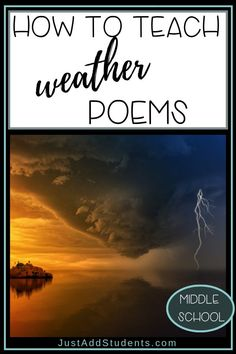 Students enjoy writing weather poems that use hyperbole. This post shows you how to teach the process of creating fun these poems. Teaching Poetry, Writing Poetry, Teaching Writing, Teaching Weather, Creative Writing Inspiration, Creative Writing Prompts, Classic Poems, Found Poetry
