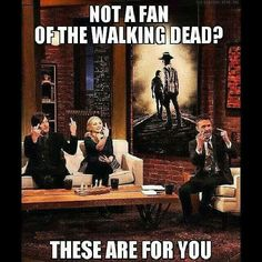 Norman Reedus, Emily Kinney, & Chris Hardwick on Talking Dead - Fangirl - The Walking Dead - Cast Walking Dead Series, Walking Dead Funny, Walking Dead Zombies, Fear The Walking Dead, Best Tv Shows, Best Shows Ever, Favorite Tv Shows, Twd Memes, Merle Dixon
