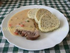 Bratislavské plecko Czech Recipes, Sweet And Salty, Food And Drink, Pork, Meat, Baking, Kale Stir Fry, Pigs, Bakken