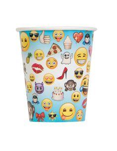 8 Vasos de cartón Emoji™: Este lote incluye 8 vasos de cartón con licencia oficialEmoji™.Tienen capacidad de 270 ml y…