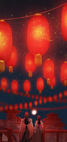 Phong cảnh Recipes food and drink show Sea Wallpaper, Wallpaper Backgrounds, Wallpapers, Fantasy Anime, Fantasy Art, Chinese Painting, Chinese Art, Yuumei Art, Floating Lanterns