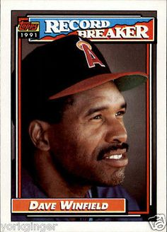 8bf4995cb8 1992 Topps Dave Winfield #5 California Angels Baseball Cards: 85 Team Sets  NM-