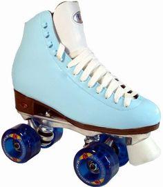 powder blue skates | Riedell light-blue roller skates for outdoor skating