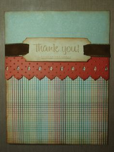 Simple Thank- you card