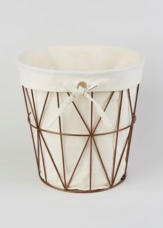 Bathroom Copper Effect Frame Bin - Matalan £6