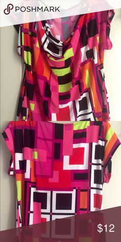 Cute printed top 95% polyester 5% spandex, super cute and comfortable new directions Tops Blouses