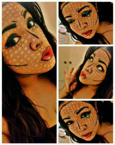 Comic make-up! I want to do this!
