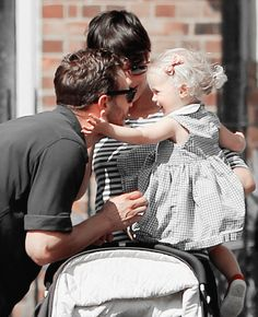 Jamie Dornan with Amelia and Dulcie
